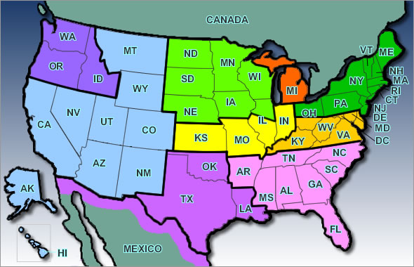Usa Map Geographical
